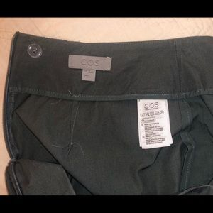 COS gray high waist cropped trousers